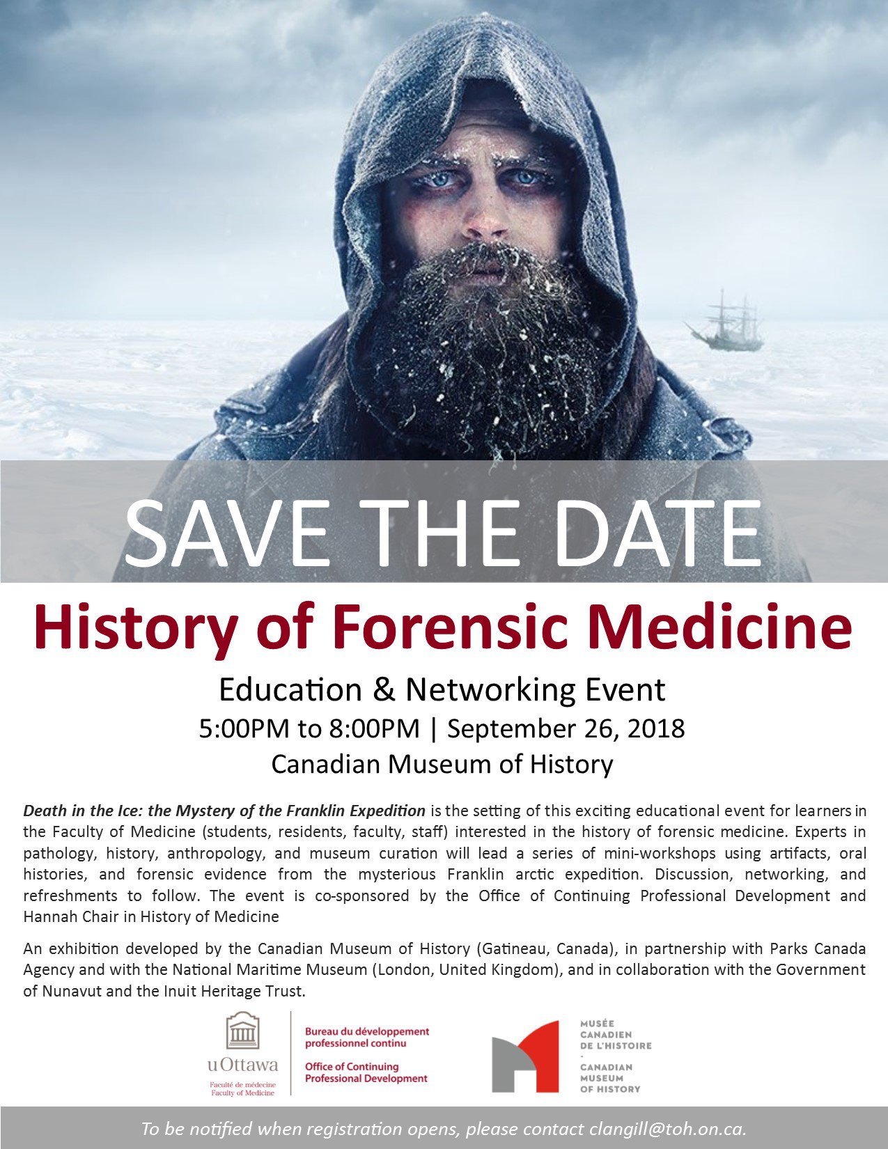 Uottawa Pgme On Twitter History Of Forensic Medicine Education Networking Event On Sept 26 At The Canmushistory Please Contact Clangill Toh On Ca To Register Https T Co Xqhwr80qhi