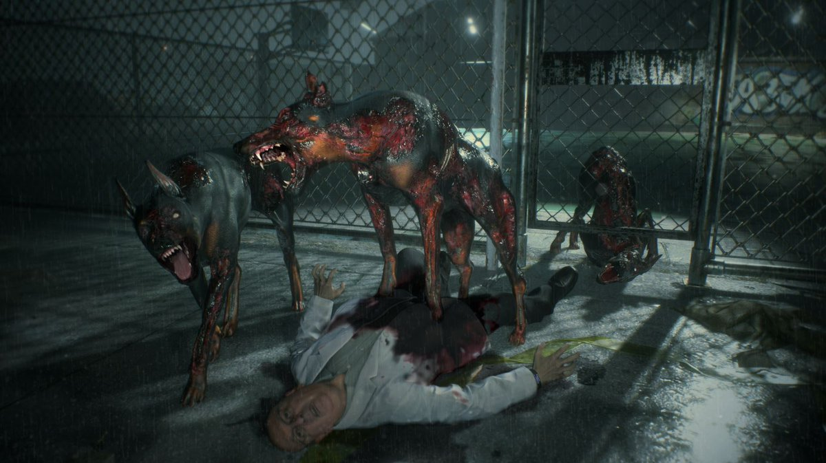 Whats worse than zombies? Zombie dogs! Cerberus dogs return for #RE2, looking creepier than ever! Ready to face them?