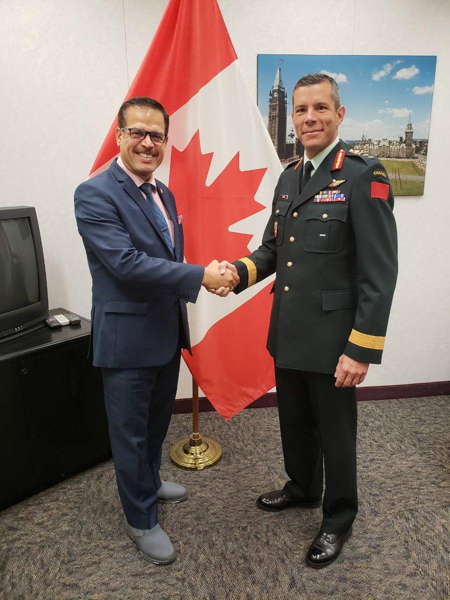 Le 19 septembre, le majorgénéral Fortin a rencontré l'ambassadeur de l'Irak au Canada pour préparer le rôle de leadership qu'assumera le Canada dans la mission d'instruction de l'#OTAN en #Irak.  - FestivalFocus