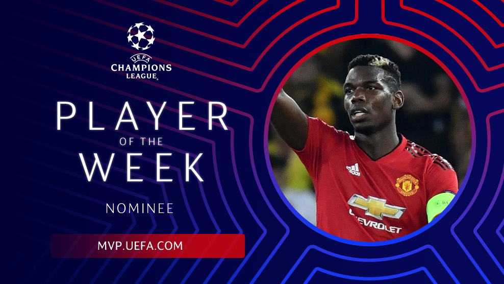 Elite. 😎  .@PaulPogba is up for the #UCL Player of the Week award!