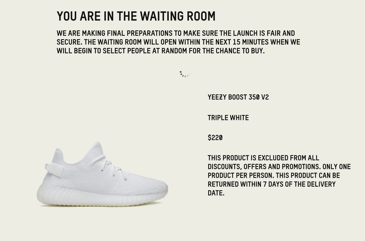 c45ae2c1b91 QUEUE LIVE EARLY ACCESS YEEZY BOOST350 V2 TRIPLE WHITE  US http   bit.ly 2NxHYpx UK http   bit.ly 1Py97Vp FR http   bit.ly 1XMAKgT  DE http   bit.ly 1VGxtxB ...