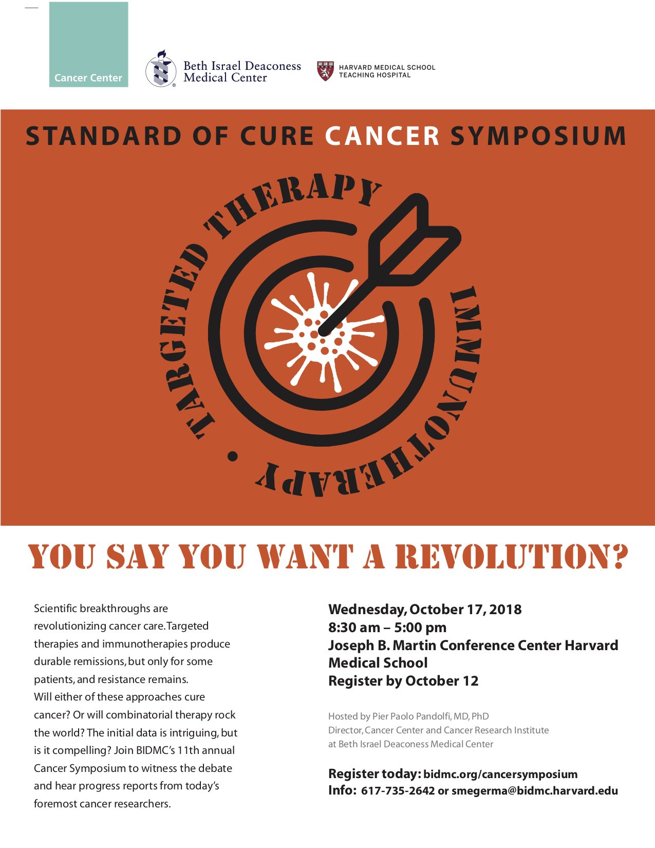 Frank J Slack Phd On Twitter Standard Of Cure Cancer Symposium