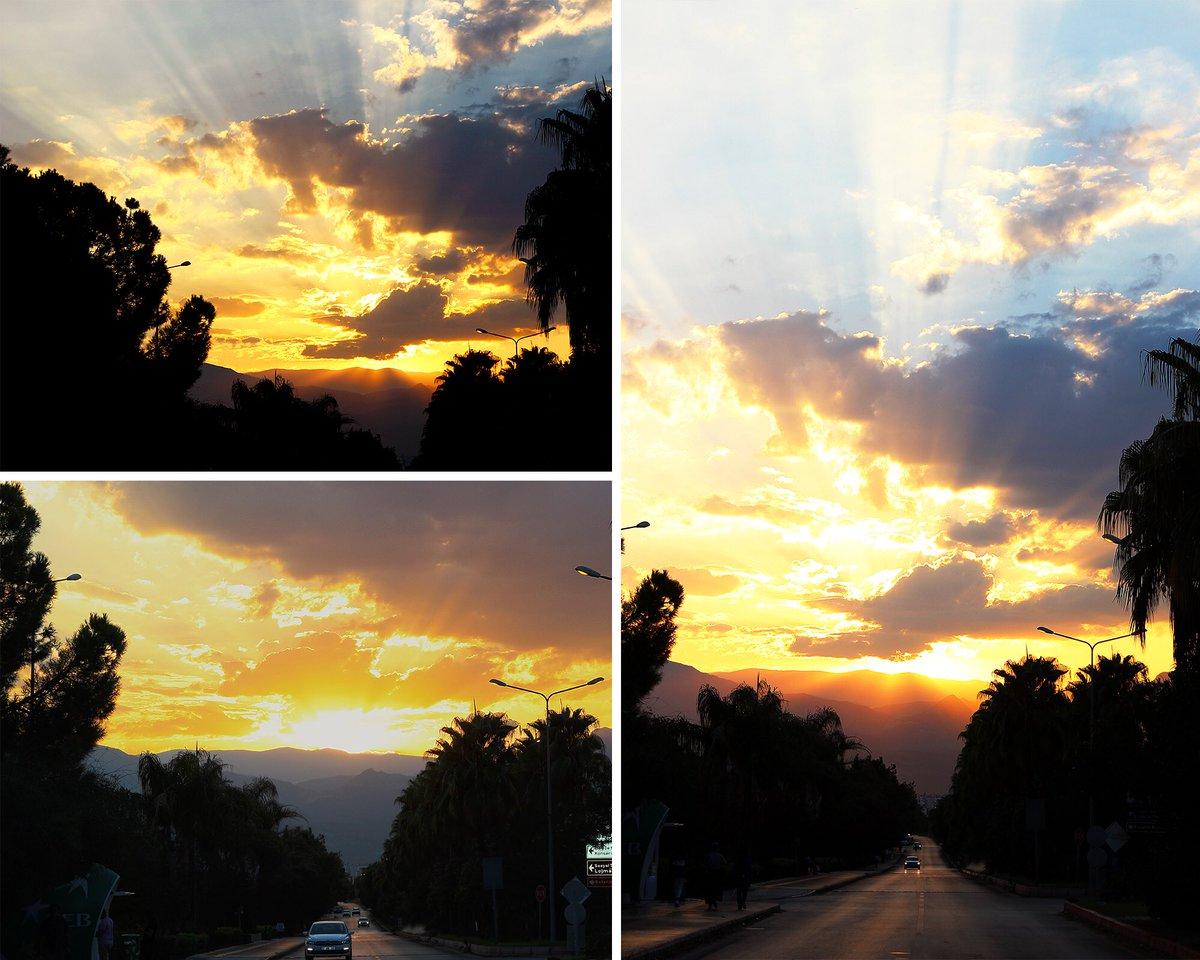 Akdeniz'de günbatımı bir başka güzel... 🌅😊 #AkdenizÜniversitesi