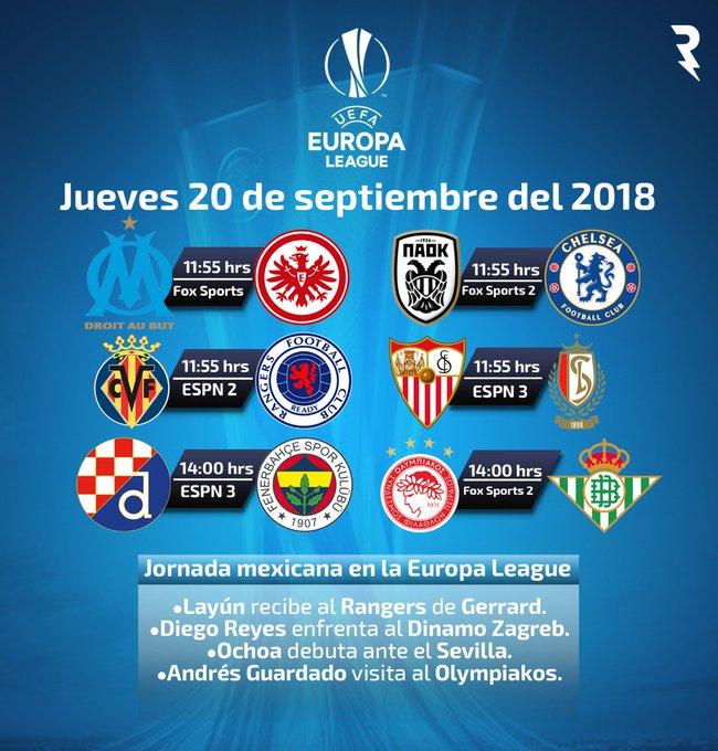 Día de futbol, día de Europa League, ¿en qué canal podremos ver a los mexicanos? ⚽👌 ¡Aquí tienen su agenda del día! Photo