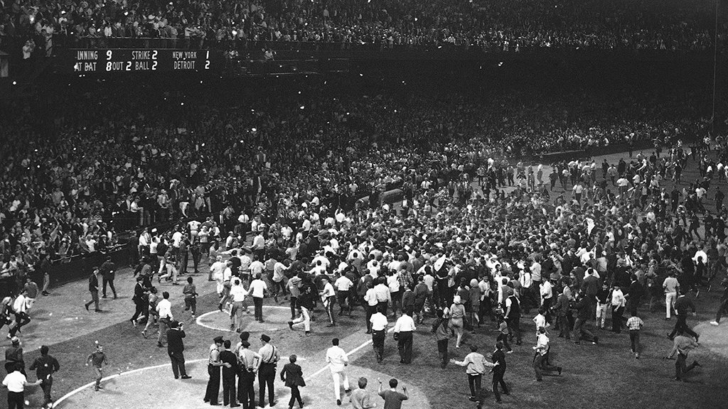 #TBT to this week in 1968, when we clinched the American League pennant with a 2-1 victory over the Yankees.