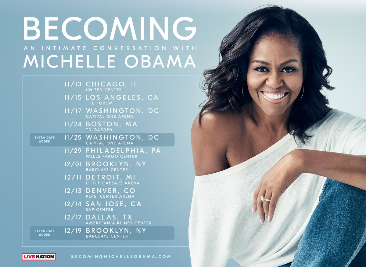 Image result for michelle obama book tour dc