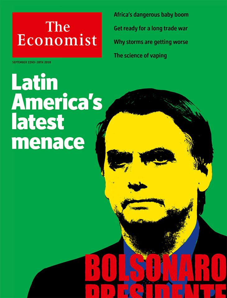 The Economist: Bolsonaro é a mais recente ameaça da América Latina e seria um presidente desastroso: https://t.co/HY8e3vpUvo