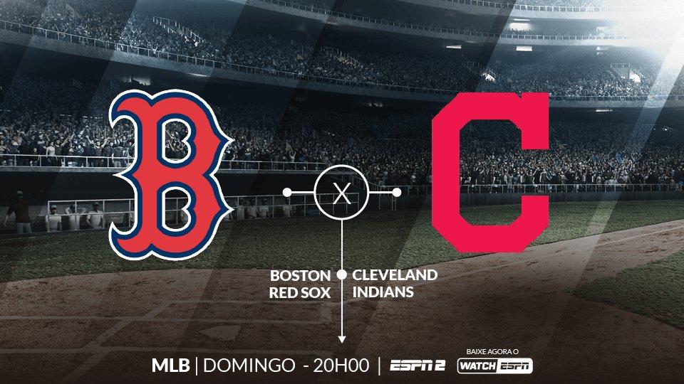 VEM DE MLB! ⚾🔥  AMANHÃ, às 20h, Boston Red Sox e Cleveland Indians se enfrentam pela MLB. Assista a todos os lances AO VIVO na ESPN2 e WatchESPN.  #MLBnaESPN
