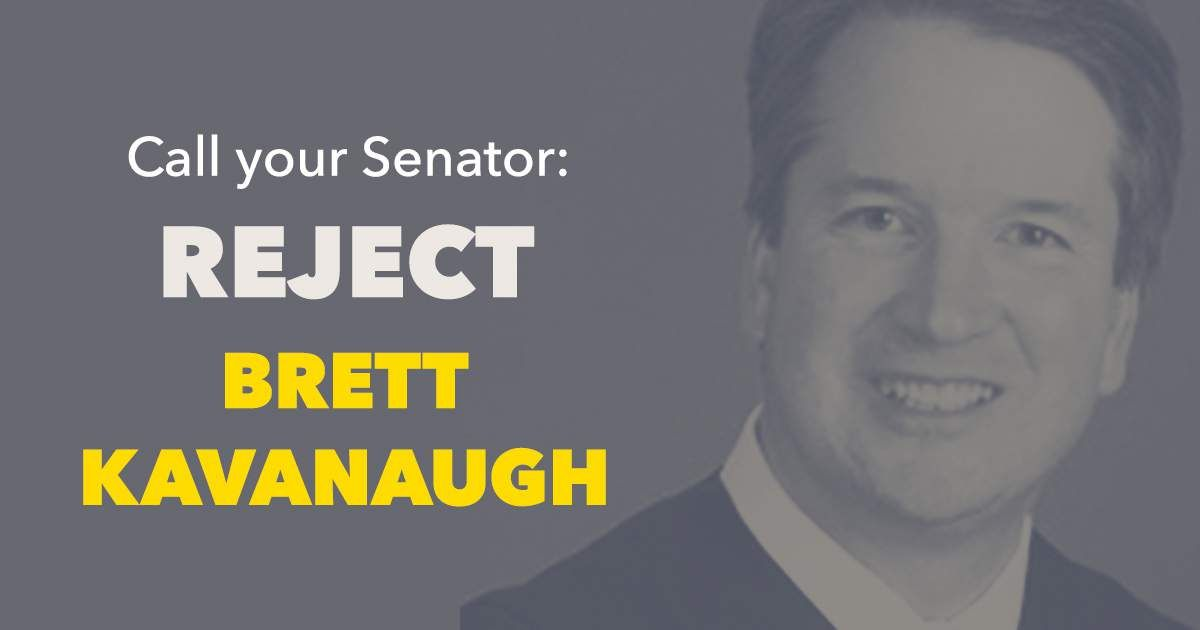 Whether it was abusing his power over a young woman 30 years ago, or abusing his power over women's lives as a judge, Brett Kavanaugh should not be considered for a seat on the Supreme Court. Period. #StopKavanaugh  Call your senators today: https://t.co/PAPWIEpo6I