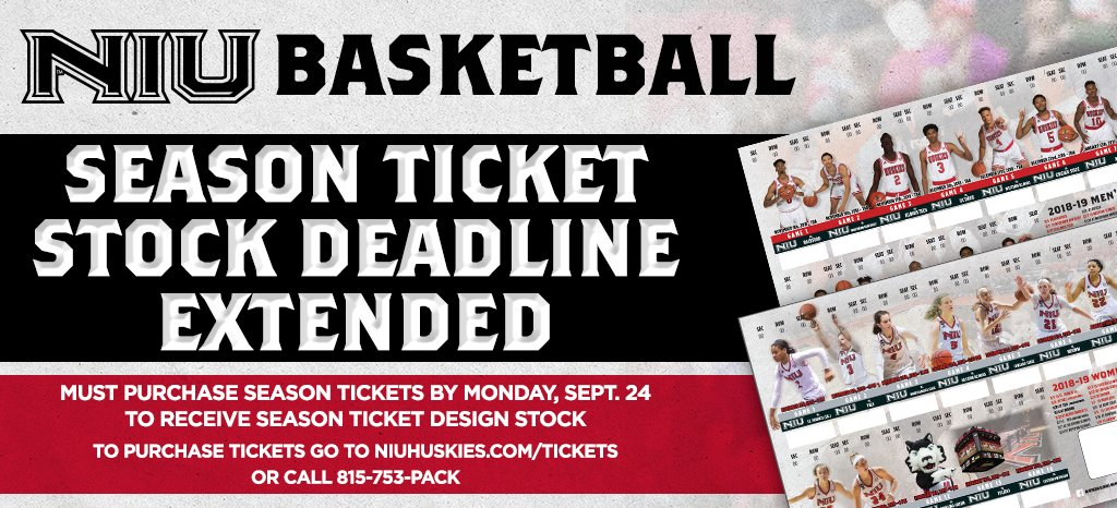 Purchase @GoHuskiesWBB and @GoHuskiesMBB season tickets by Monday to make sure you receive our exclusive sheet design. Click Here ---> bit.ly/2MpSYFI #NIUBasketball 🐺 #WhateverItTakes