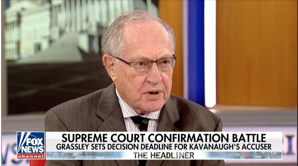 Dershowitz: Don't call Kavanaugh 'perpetrator' or accuser 'victim' https://t.co/8c03Kc5cgg
