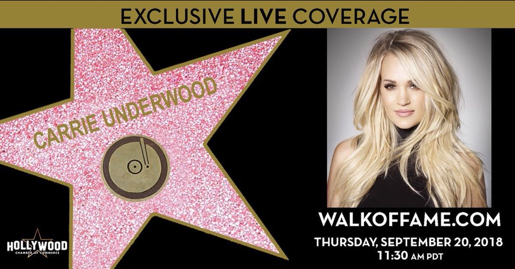 Carrie Underwood's photo on #WalkOfFame