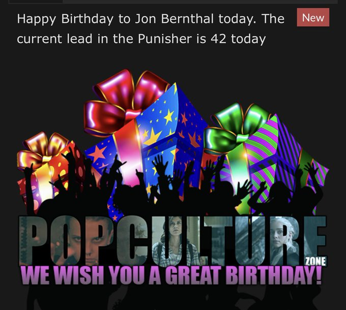 wishes a huge Happy Birthday to Jon Bernthal! Ripley