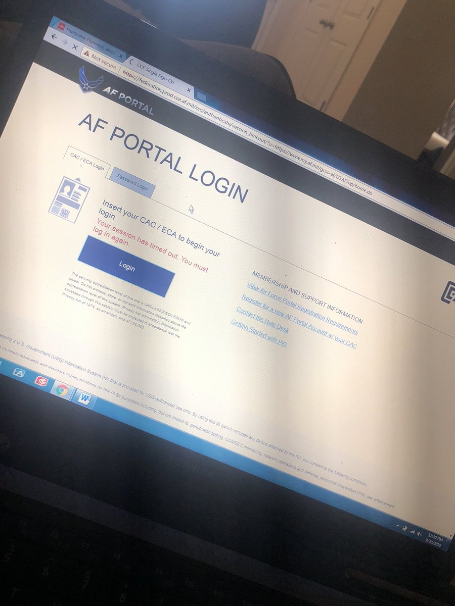 Af portal login from home