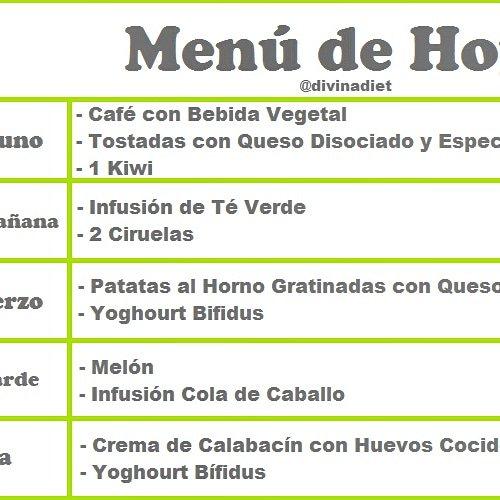 Recetas menu dieta disociada menu
