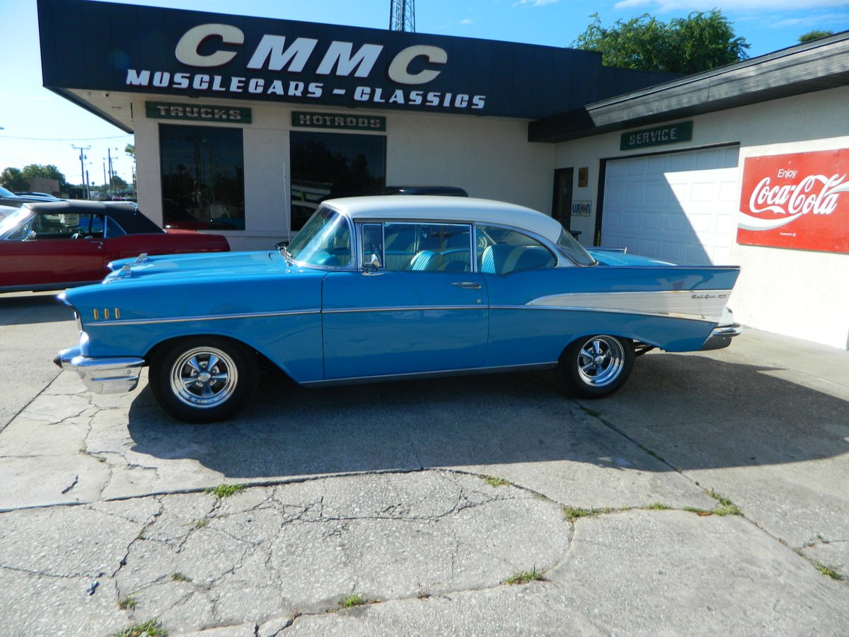 Paul Newman On Twitter 1957 Chevy Bel Air 2 Door Hardtop Leaving Cmmc Garage Mechanical Restoration Big Block 454 With A 5 Speed Transmission And New