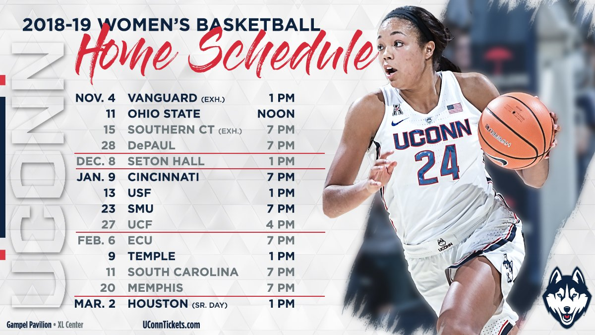 "uconn women's hoops on twitter: ""get your calendars ready, our full"