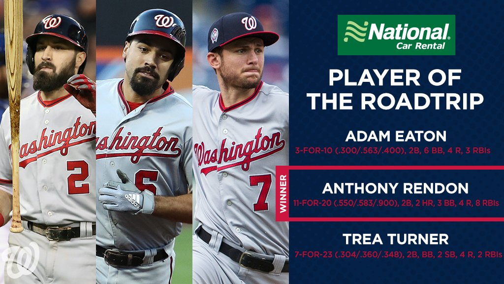 18 backpack emojis in 5 games earned Anthony Rendon @NationalPro Player of the Road Trip honors!  ゚ホメ゚ホメ゚ホメ゚ホメ゚ホメ゚ホメ゚ホメ゚ホメ゚ホメ゚ホメ゚ホメ゚ホメ゚ホメ゚ホメ゚ホメ゚ホメ゚ホメ゚ホメ https://t.co/tNTUoHo43C