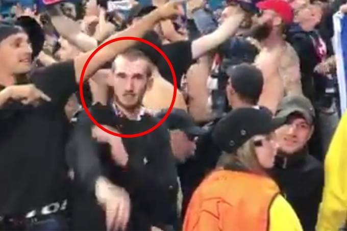 Lyon bane torcedor por gesto nazista na @ChampionsLeague Photo