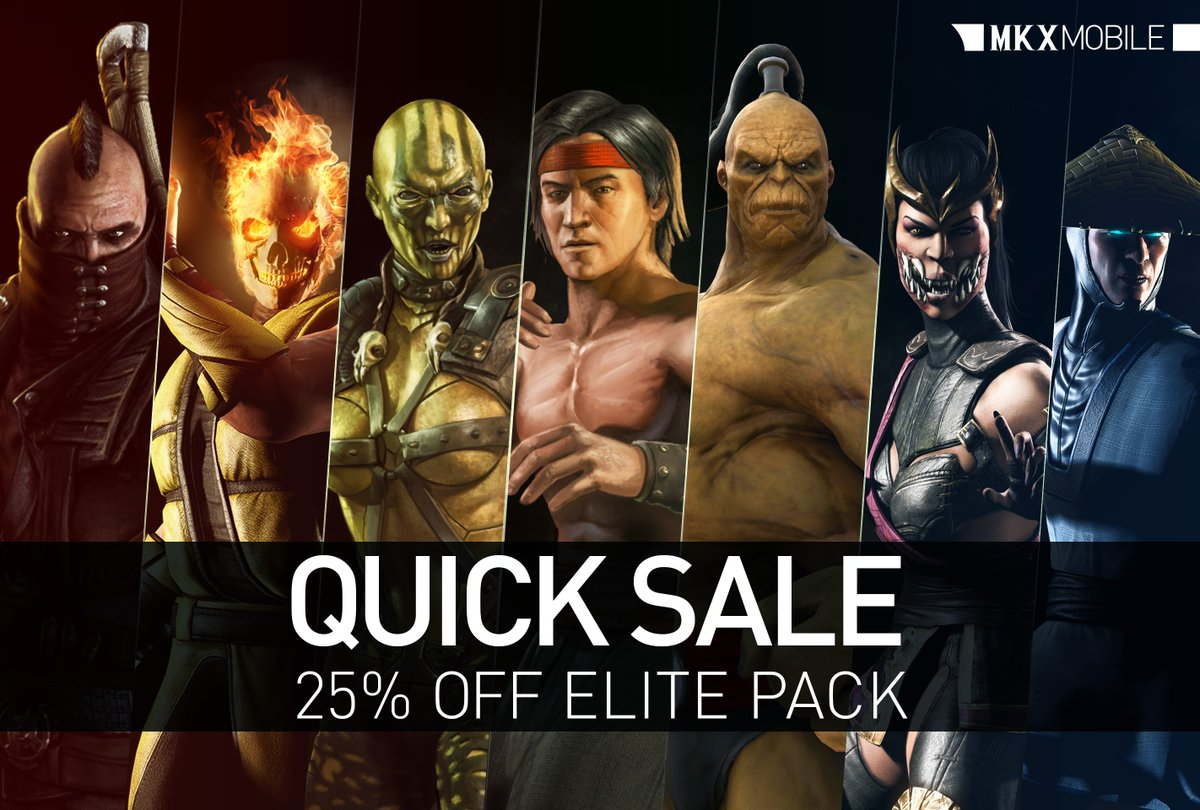 Are you prepared to finish the new Ronin Kitana Challenge? For a limited time only SAVE 25% on the ELITE PACK for a chance to unlock Mileena. #MKXMobile
