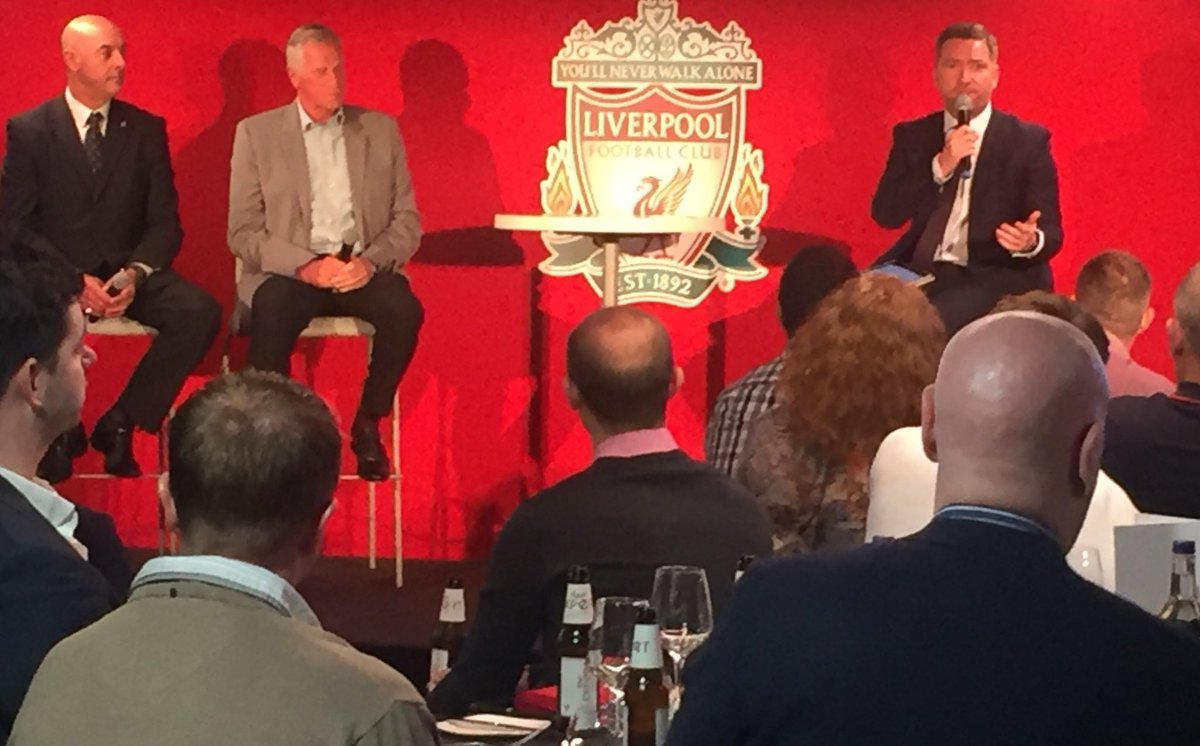 Welcoming @LFC Legendary Goalkeepers @RayClem1 & Bruce Grobbelaar to @LFC_Events tonight, with a special message from @Alissonbecker too 🧤🧤⚽️ with @Petermcdowall10 .