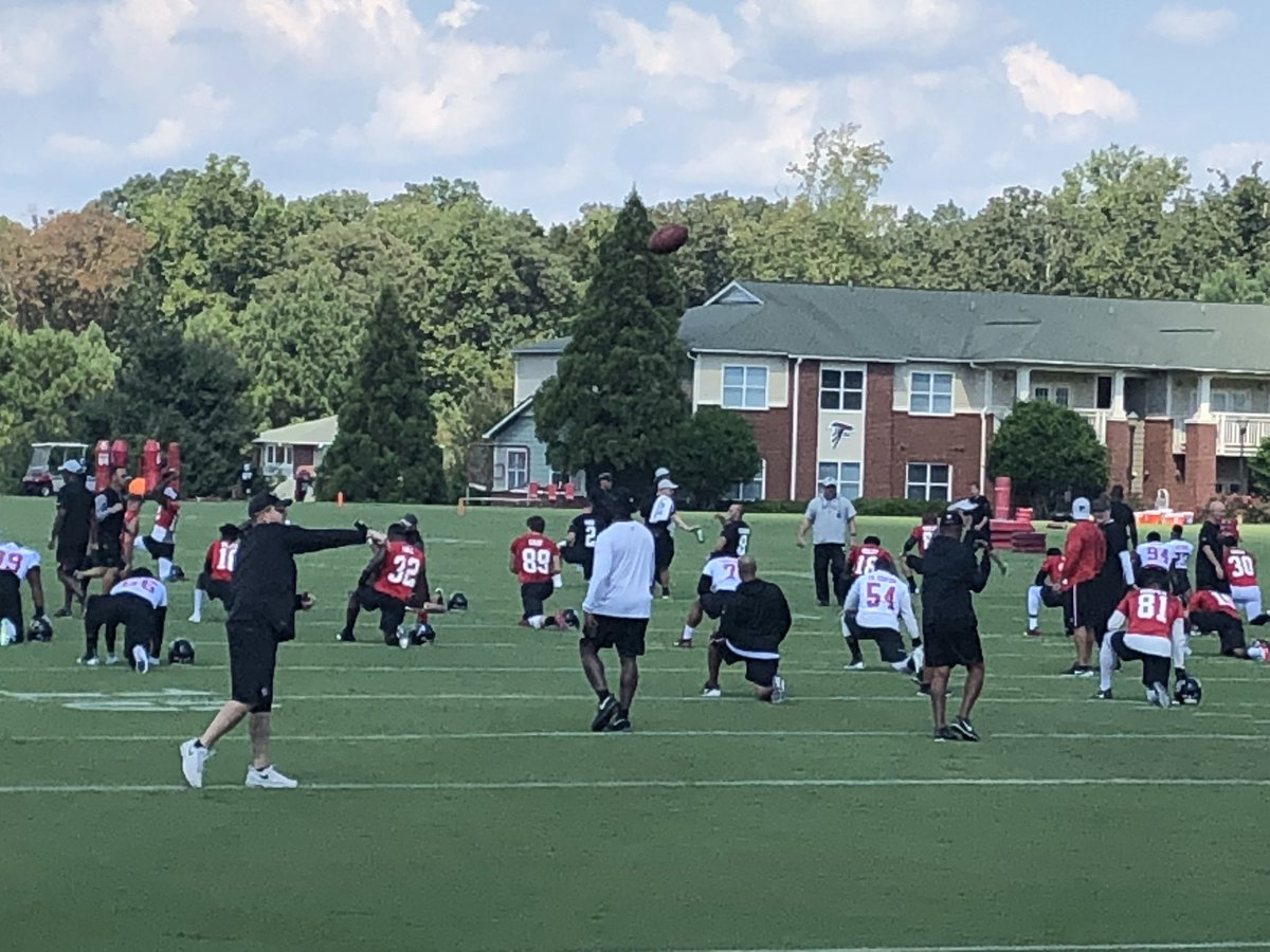 #Falcons have started practicing without Devonta Freeman, Julio Jones, Derrick Shelby, Corey Nelson or Takk McKinley in the open portion.