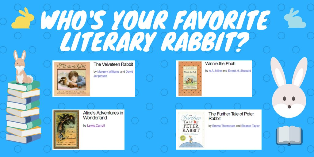 test Twitter Media - Tomorrow is International Rabbit Day! Who's your favorite literary rabbit? https://t.co/2uriASsxhd
