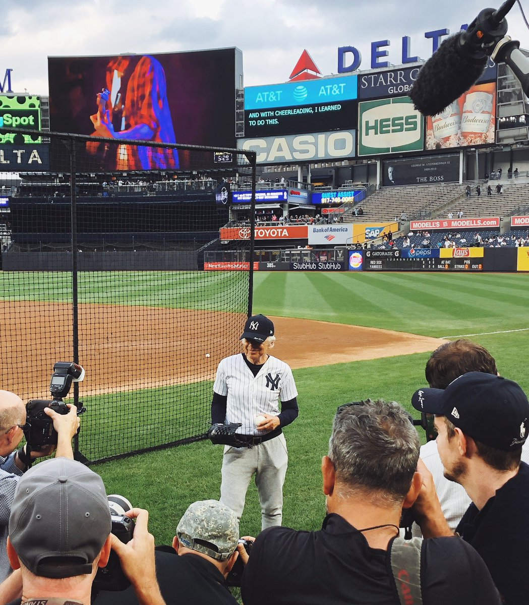 06cbb324 Ralph Lauren—a Bronx native who grew up watching his hometown team in Yankee  Stadium™—prepares to throw the ceremonial first pitch in the New York # Yankees ...