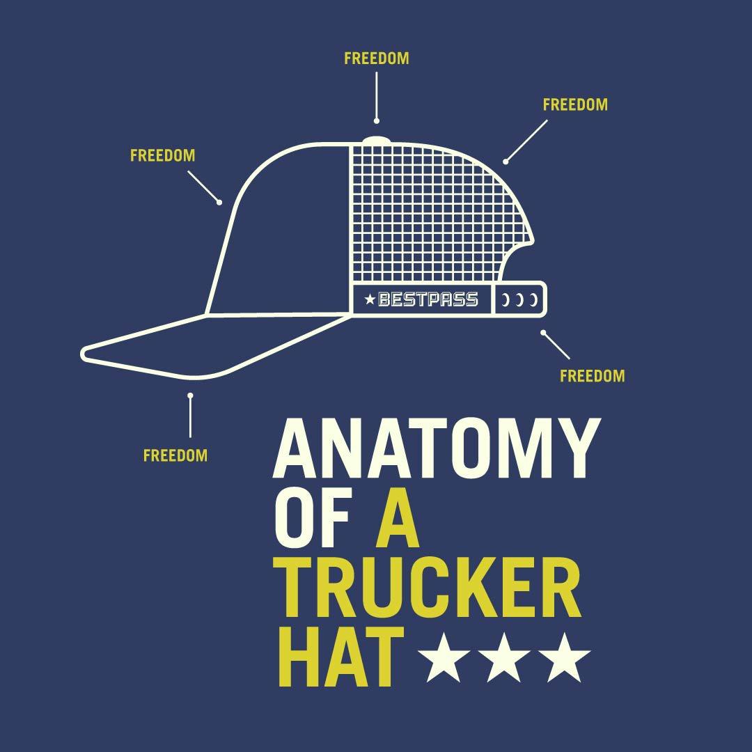 Bestpass On Twitter Anatomy Of A Trucker Hat Ontheroad Trucking