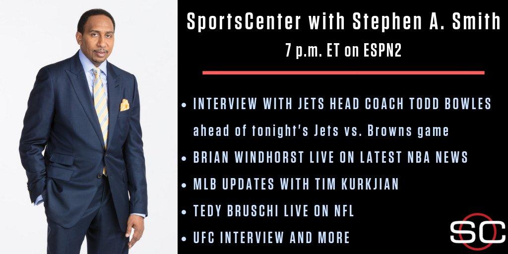 Tonight: @stephenasmith @SportsCenter special at 7 p.m. ET on ESPN2