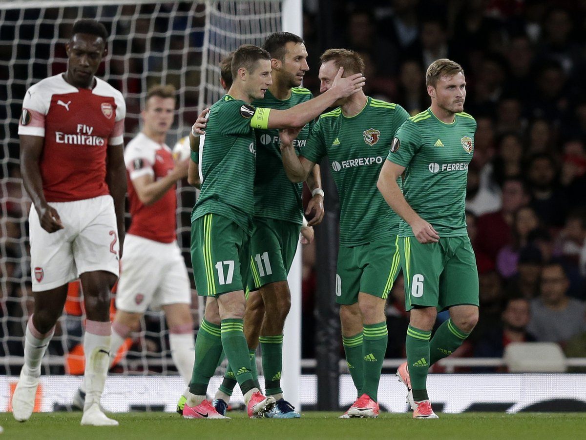 Ворскла в четверг забила два гола в ворота Арсенала на Эмирейтс Стэдиум