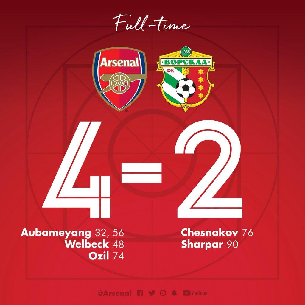 Arsenal 4 Vorskla 2