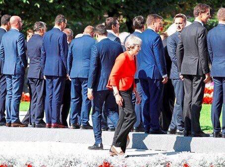 Dead PM @theresa_may walking! #BrexitShambles 😢