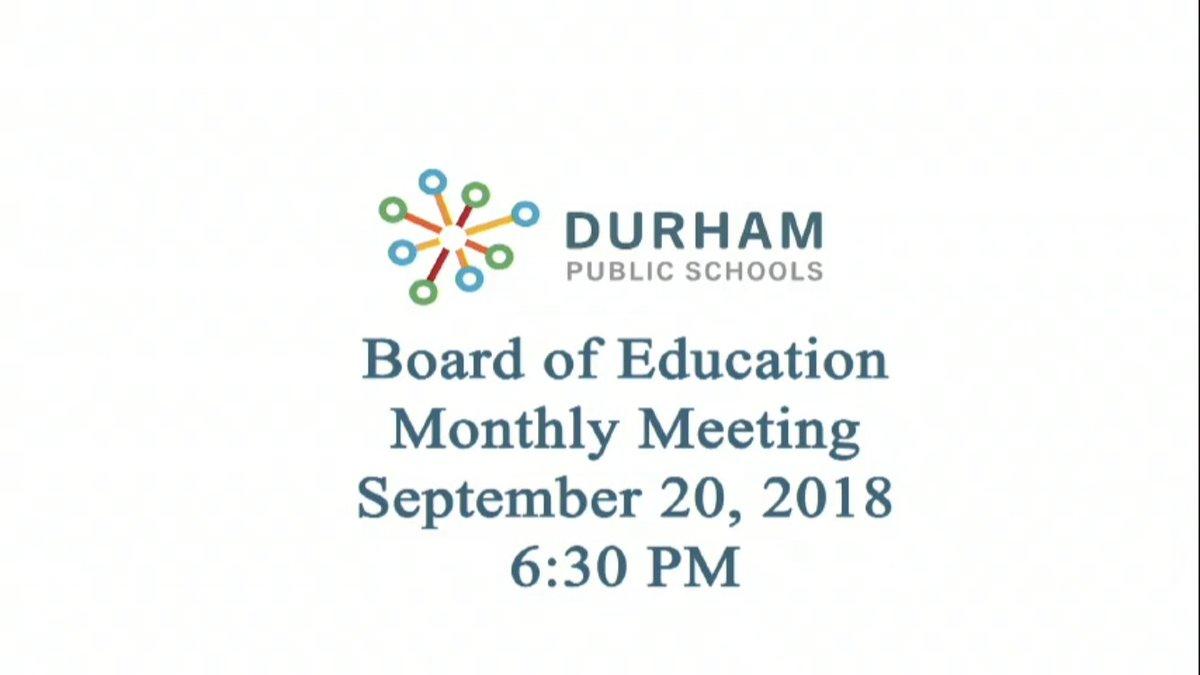 Durham Public Schools On Twitter The Dps School Board Meeting Is