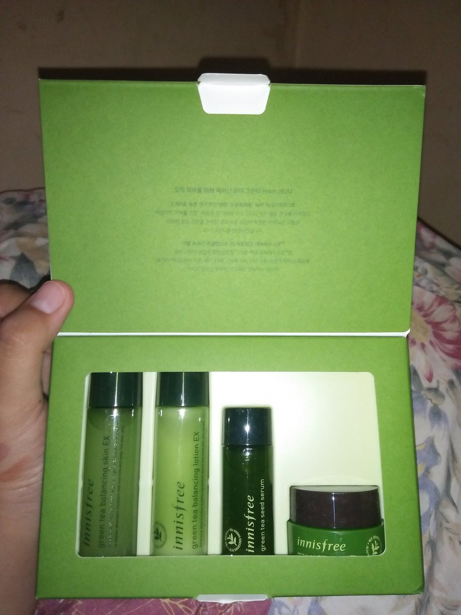 Ajass Tweet G I V E A W Y Innisfree Green Tea Special Kit Balancing 4 Items Undinya Mending Pake Apa