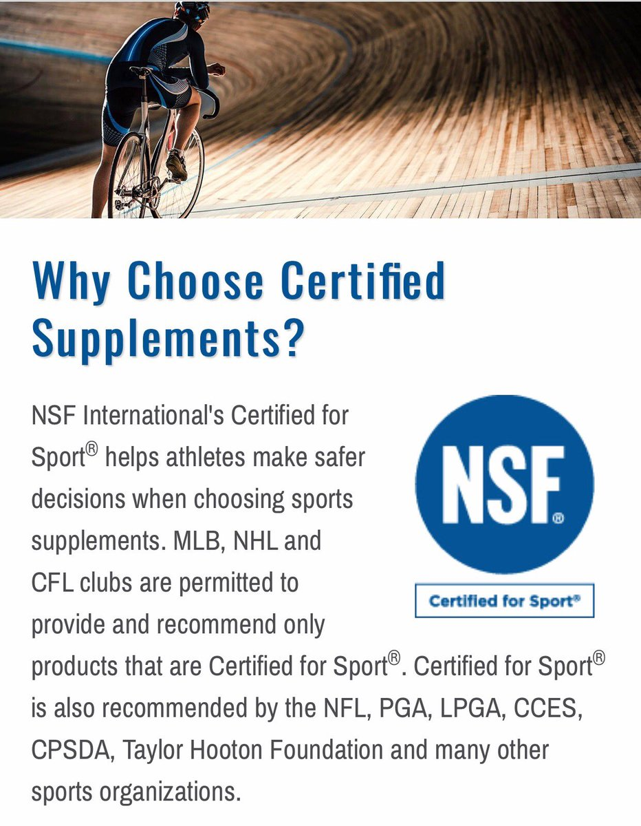 Nsf Certified For Sport On Twitter Not All 3rd Party