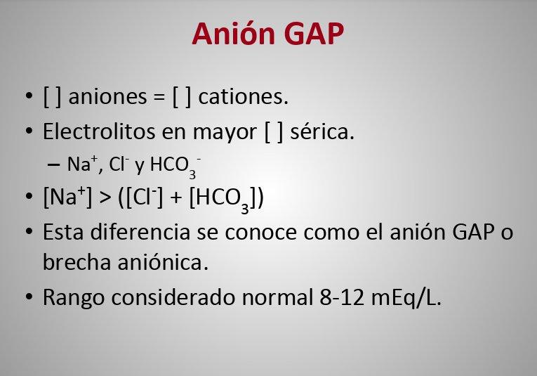 definición de brecha aniónica diabetes mellitus