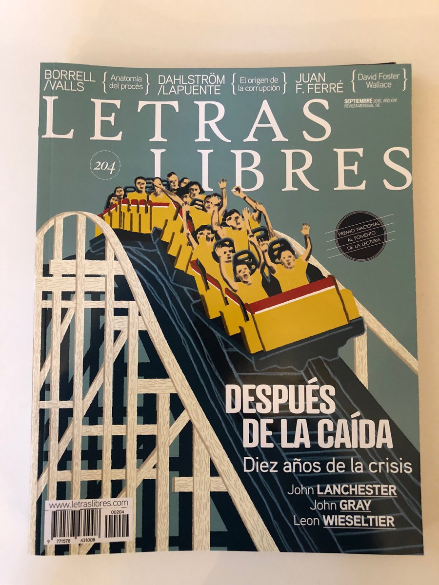 Esta es la portada del número 204 de @Letras_Libres España, revista hermana de @Letras_Libres México desde 2001. Gracias al público y a los anunciantes españoles.