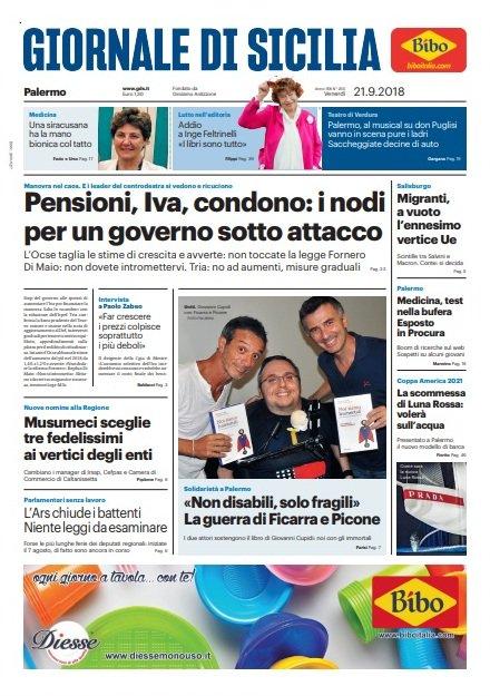 La prima pagina del Giornale di Sicilia oggi in edicola. Accedi al giornale digitale https://t.co/TcxqY4Uujr
