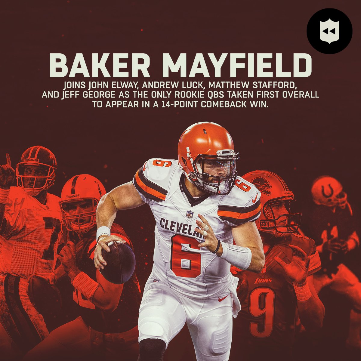 It only took @bakermayfield one game to join this select group of QBs.