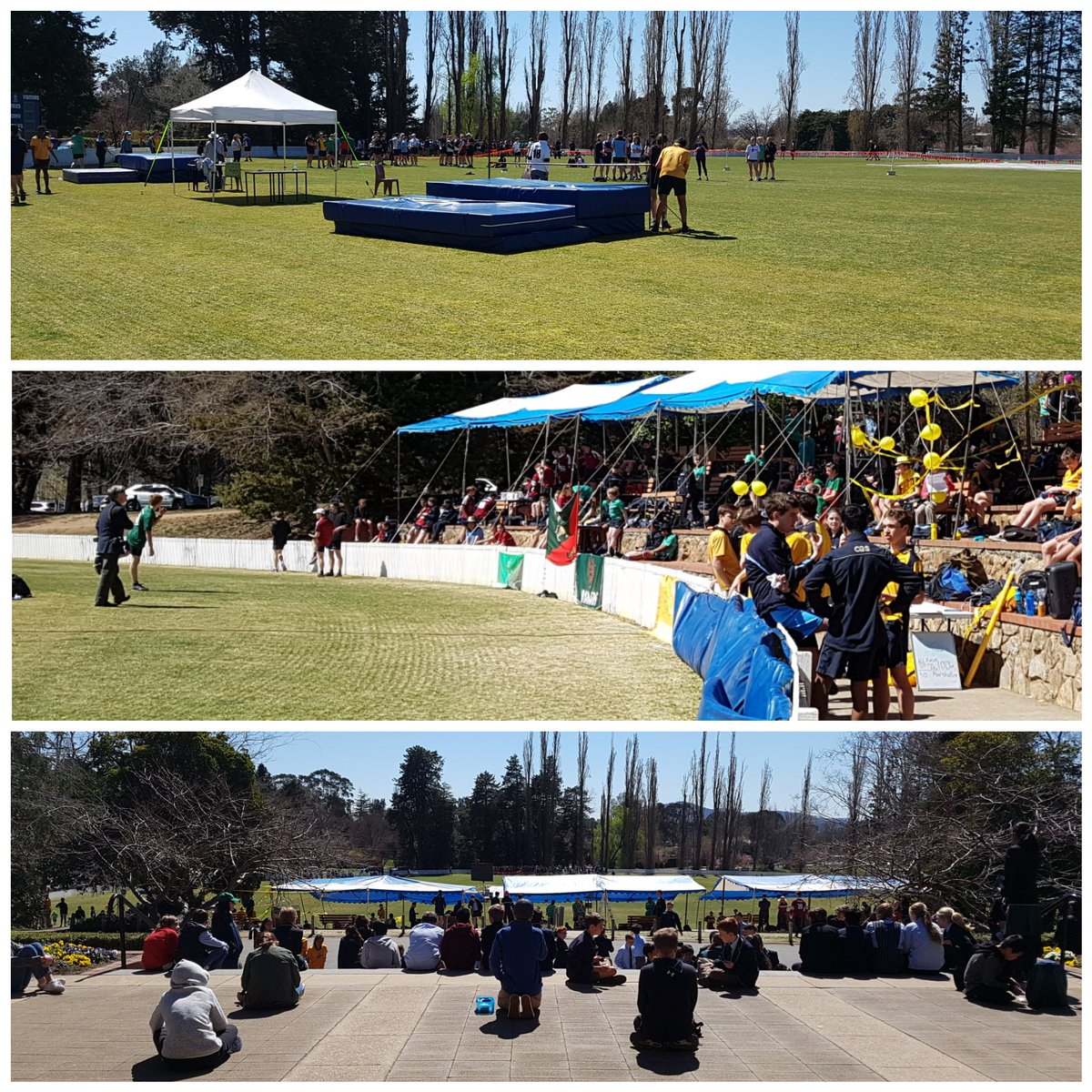 Great atmosphere on the sporting grounds today at the Athletics Carnival - terrific weather too.