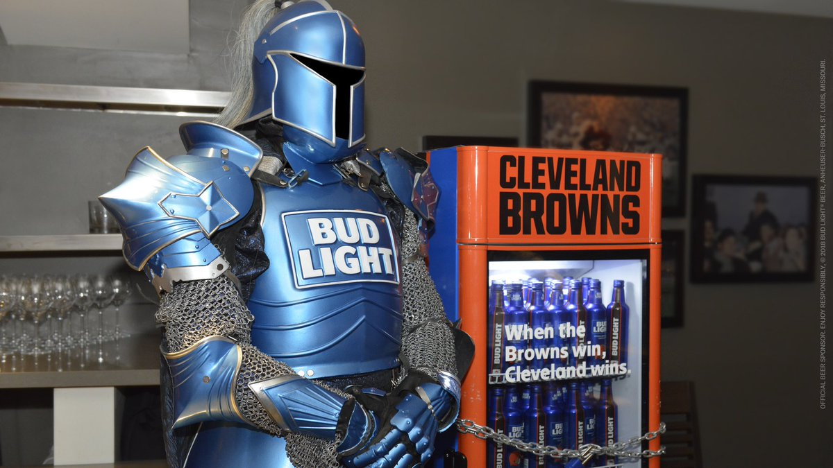 Bud Light ✅ . Weu0027re All Set For The @Browns Victory Fridge Chains To Drop  In Cleveland.pic.twitter.com/OD1tJ2E5IH