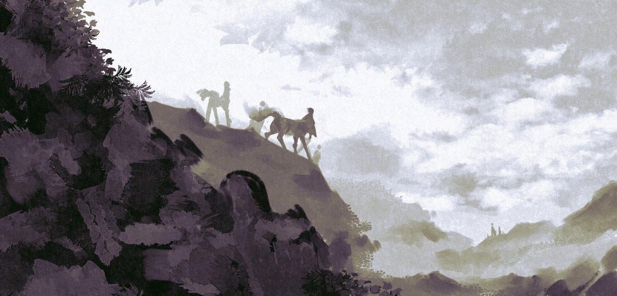 【習作】人馬のいる風景。#人馬