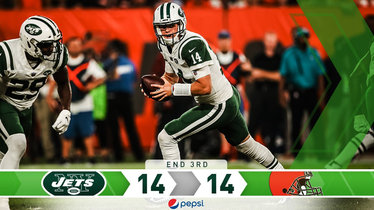 Knotted. #NYJvsCLE