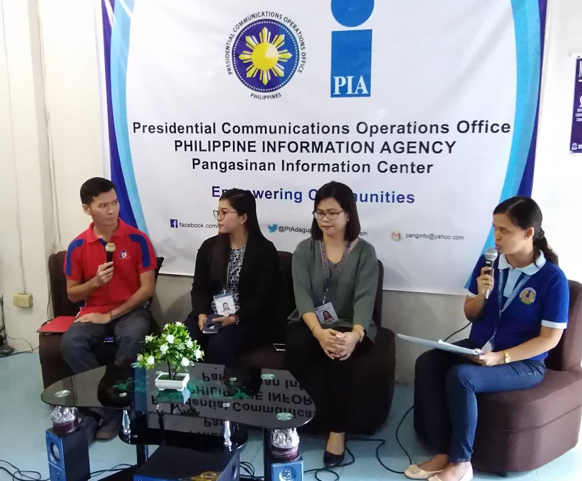 ATM: Media forum dubbed as 'Tongtongan ed PIA' this morning at the PIA Office in Dagupan City. Guests: GSIS, SSS and ECC. | via Liezle Iñigo