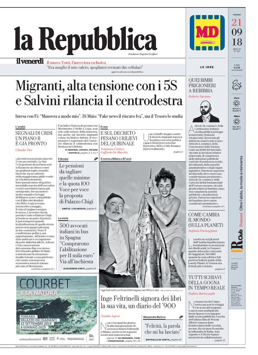 La Repubblica On Twitter Migranti Alta Tensione Con I 5s E