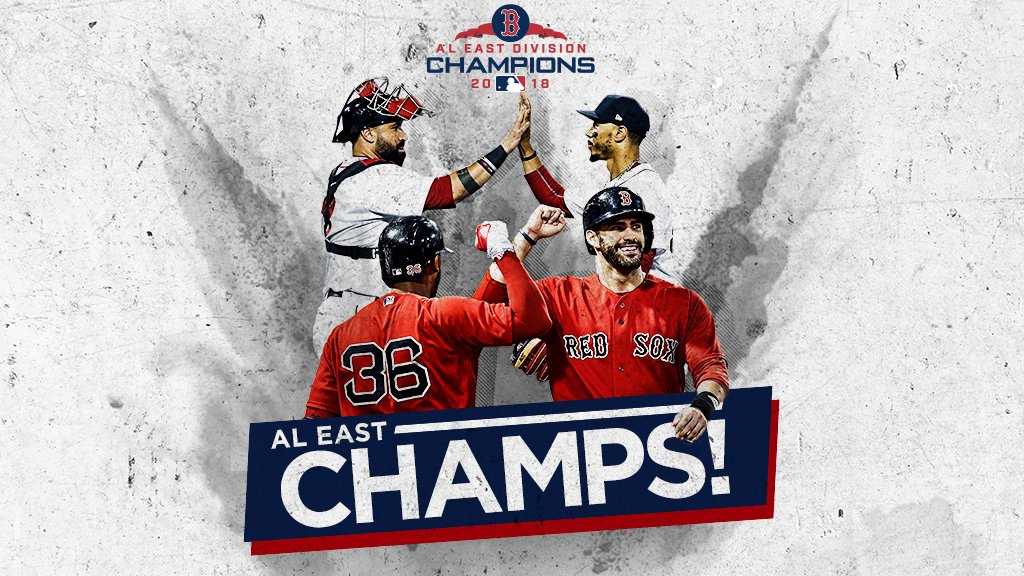#CLINCHED on enemy turf.      Three straight division titles for the @RedSox! https://t.co/WPrhbKbHS5