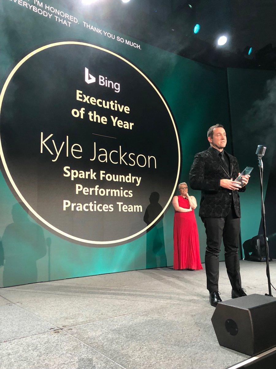 test Twitter Media - Congrats Kyle Jackson @Jackson_Travel awarded Executive of the Year at the #bingagencyawards @SparkFoundryUSA @performics https://t.co/iBXRoYVQYk