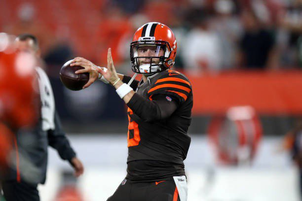Called too short.  Walks on to Texas Tech.  Wins QB job.  Gets Hurt.  Transfers.  Walks On to OU.  Becomes 3-year-starter.  Wins 34 out of 40 games.  Wins 2017 Heisman.  Drafted #1 overall.  In 1st game, leads Browns to first win in 20 games.