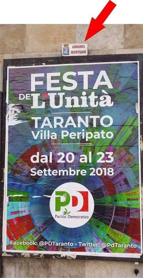 IL #BUONGIORNO SI VEDE DAL #MATTINO  annunci mortuari... #PD #renzi #Boschi #partitodemocratico #Taranto #ilva #emiliano #puglia #italia #Sicilia #Palermo #Politica #21settembre #primagliitaliani #nessunotocchisalvini #PicOfTheDay #sinistra #rip #lega #salvini #pace #bene  - Ukustom
